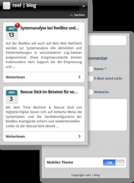 reelblog mobile